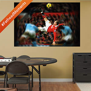 Wayne Rooney Bicycle Kick Mural Fathead Wall Decal